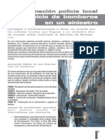 Coordinación Policia y Bomberos.