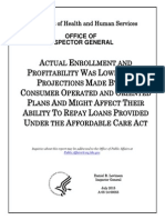 HHS Inspector General Report