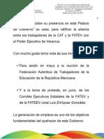 26 04 2011 - Reunión con la Confederación auténtica de Trabajadores de la República Mexicana y la Federación Auténtica de Trabajadores del Estado de Veracruz.