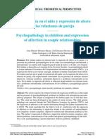 Psicopatología en El Niño y Expresión de Afecto en La Pareja