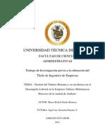 Tesis Gestion Talento Humano 2015