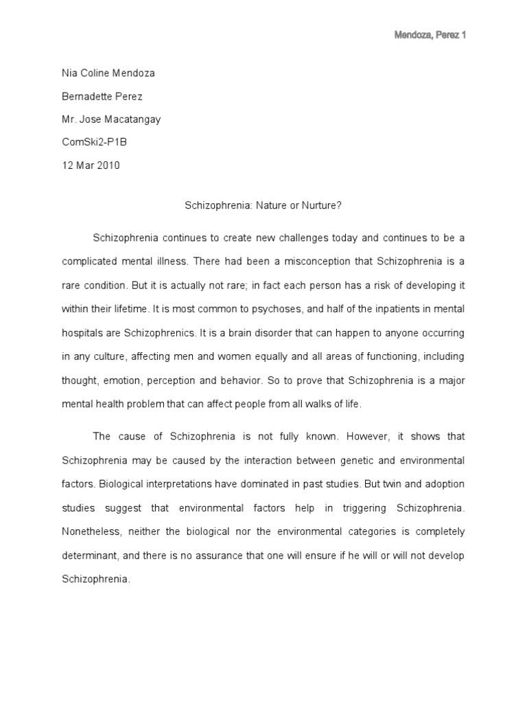 Research paper on schizophrenia schizophrenia substance abuse altavistaventures Gallery