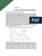 Retomada da economia brasileira - Ministério da Fazenda - Outubro de 2015