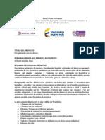 Ficha para presentar Proyecto