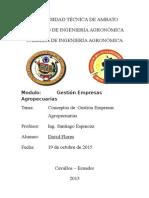 Conceptos de Gestión Empresas Agropecuarias