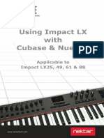 Using Impact LX With Cubase Nuendo