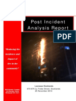 MFB-Post Incident Analysis Lacrosse Building Docklands, Melbourne