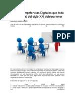 Las 33 Competencias Digitales Que Todo Profesor