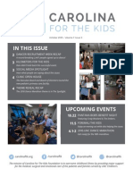 Carolina For The Kids October 2015 Newsletter