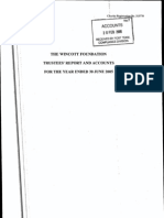 The Wincott Foundation Accounts, Made Up to 30 June 2005
