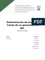 Determinacion de trabajo a traves de un generador de gas/Informe de Fisico II/ Laboratorio