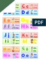 Juego didactico para niños en edad de preescolar/ABC Domino