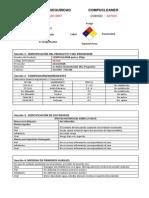 Hoja de Datos de Seguridad Compucleaner II - Pote
