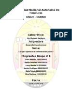 Informe de La Ley Para Optimizar La Administracion Publica Grupo 1 (2)