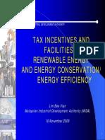 20091116 - Tax Incentives and Facilities Presentation (MIDA)