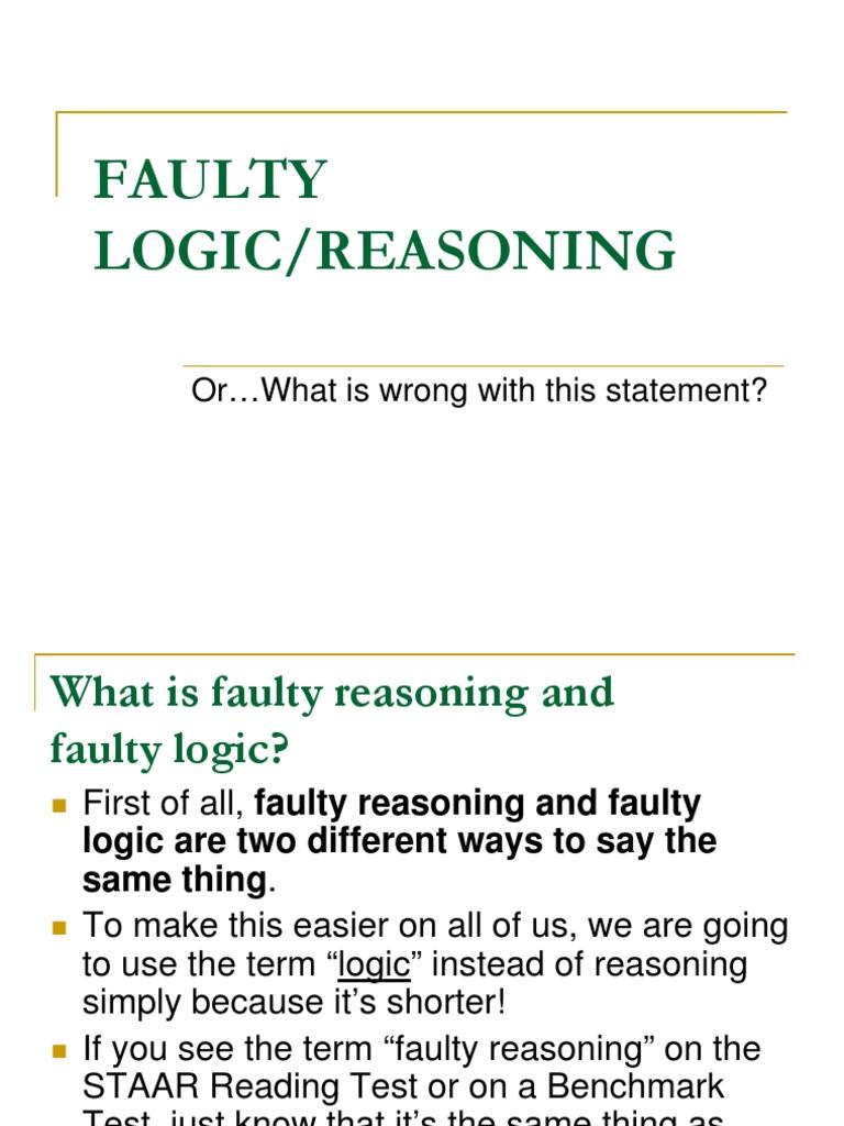 Faulty Logic   Causality   Logic