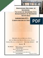 Laboratorio Mec. Suelos II-Consolidacion