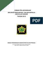 Pedoman Pelaksanaan Seleksi Calon Kepala Sekolah