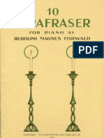 (Sheet Music - Piano) Norwegian Christmas Songs - Forwald Parafrases - Forwald Para Fraser Over Norske Jules Anger