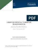 LIBERTAD ESENCIAL Y LIBERTAD TRASCENDENTAL