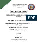 Resumen Prospección Geológico-minera - Oscar