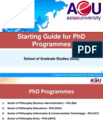 Starting Guide for Phd May 2015
