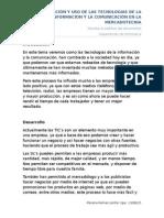 APLICACIÓN Y USO DE LAS TECNOLOGIAS DE LA INFORMACION Y LA COMUNICACIÓN EN LA MERCADOTECNIA