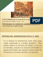 EVOLUCION DERECHO ADMINISTRATIVO II
