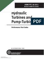 ASME PTC 18-2011-Hydraulic Turbines and Pump-Turbines-Performance Test Codes