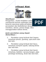 Cara Sterilisasi Alat Kesehatan