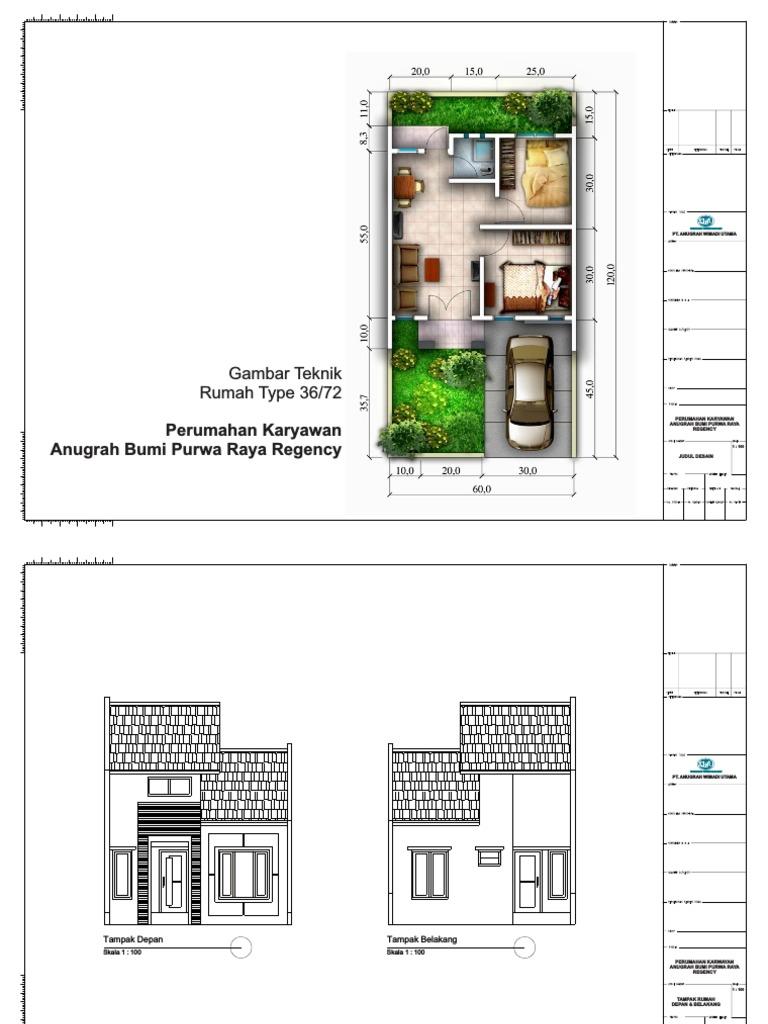 Desain dan Denah Rumah Type 36 Lengkap