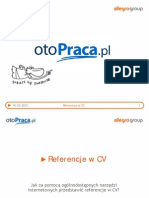 otoPraca - Referencje w CV