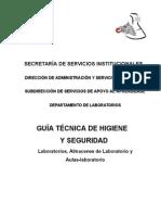 Lineamiento Seguridad Higiene en Laboratorios