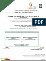 Manual de Prácticas Electrónica Analógica