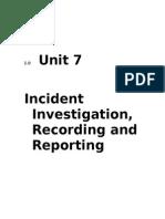 UNit 7 Incident Investigation