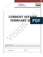 Vision IAS Febuary 2015 Current Affairs