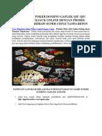 Cara Membuat Akun Poker Gaple Dengan Cepat