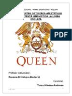 Queen - atestat limba engleza