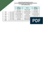 Jadwal Ujian Ganjil-genap Tp3 d4