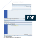 Steps to Create Specification V2.0