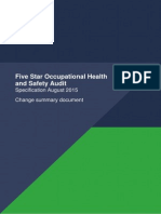 Five Star Audit 2015 Specification Change Summary