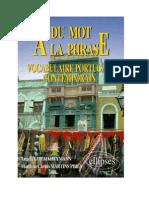 Du Mot à La Phrase Portugais Vocabulaire Complet 12 000 Mots