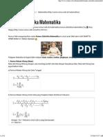 Rumus Statistika Matematika - Rumus Web