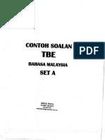 Contoh Soalan Tbe (1)