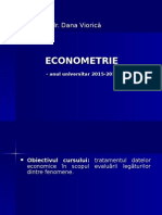 Curs1. Econometrie Introducere