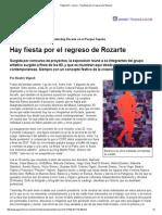 Página_12 __ Rosario __ Hay Fiesta Por El Regreso de Rozarte