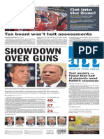 Asbury Park Press front page Wednesday, Oct. 21 2015