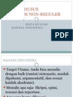 Silabus Kelas Khusus Bahasa Indonesia