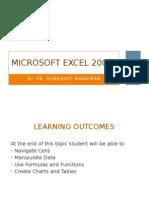 Unit 2.5 Microsoft Excel 2007