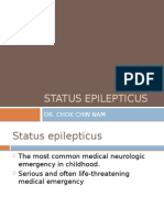 Appproach to a case of status Epilepticus in paediatrics